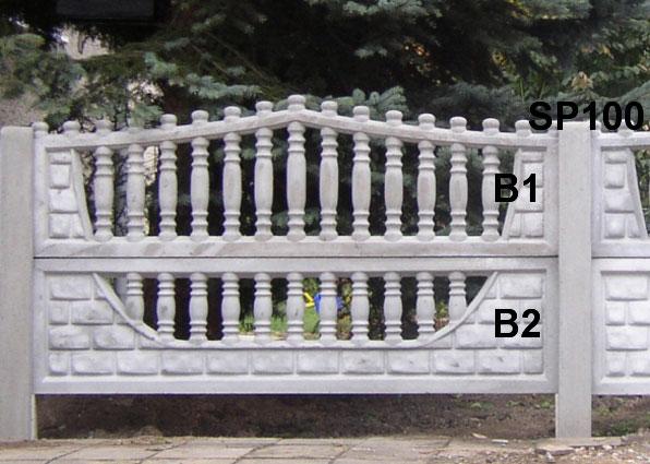 Betonový plot B1,B2,SP100