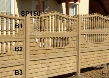 Betonový plot B3,B2,B1,SP150
