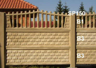 Betonový plot B3,B3,B1,SP150