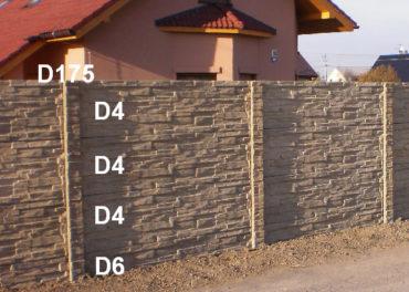 Betonový plot D4,D4,D4,D6,D175
