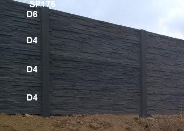 Betonový plot D4,D4,D4,D6,SP175