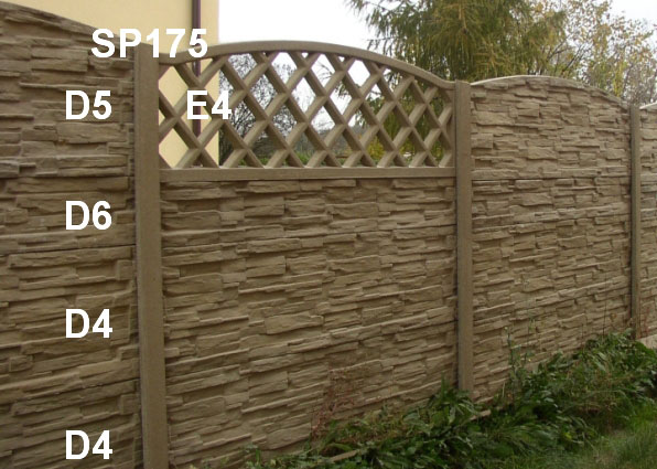 Betonový plot D4,D4,D6,E4,D5,SP175