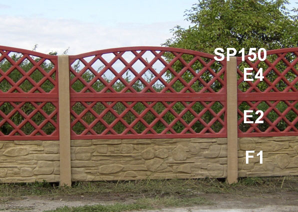 Betonový plot E4,E2,F1,SP150