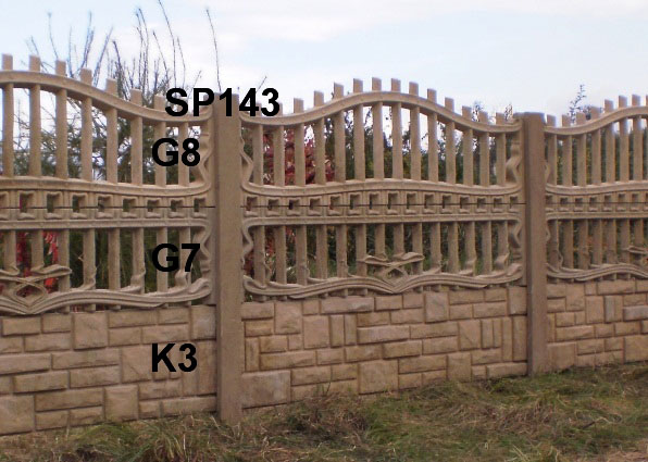 Betonový plot K3,G7,G8,SP143