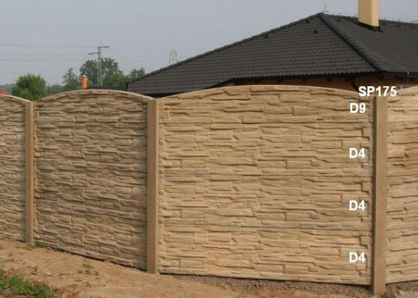 Betonový plot D9,D4,D4,D4,SP175