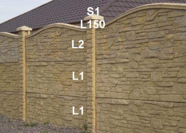 Betonový plot L1,L1,L2,L150,S1