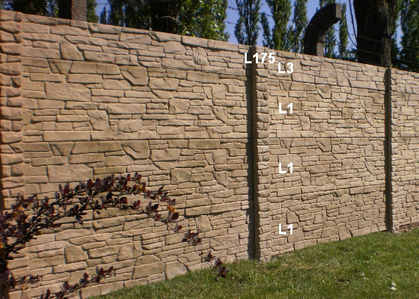 Betonový plot L3,L1,L1,L1,L175