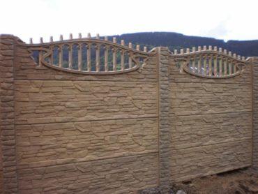 Nový vzor betonového plotu