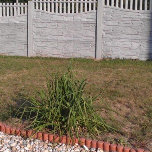 Nový vzor betonového plotu v Olbramicích