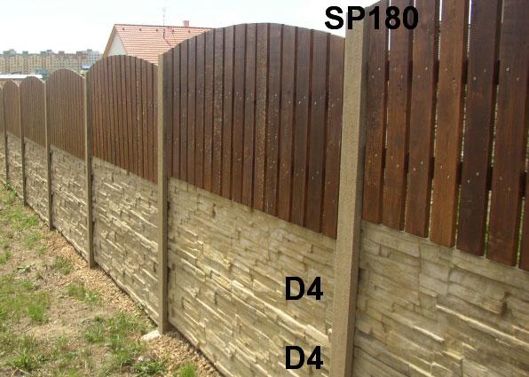 Plotová podezdívka D4,D4,SP180