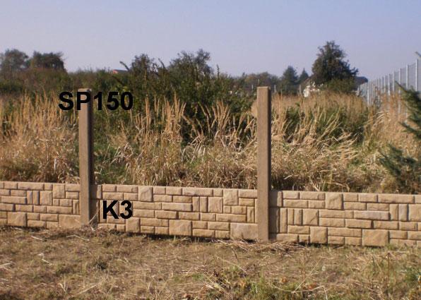 Plotová podezdívka K3,SP150