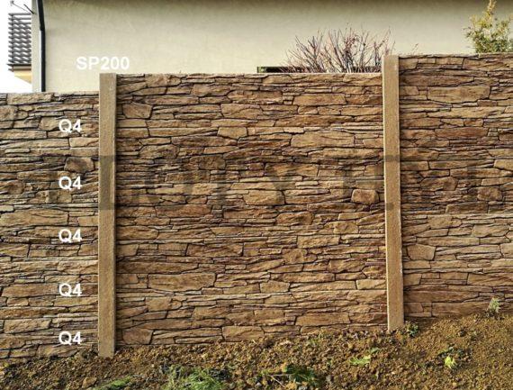 Betonový plot Q Line
